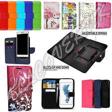 "For Motorola Moto E6 Play (5.5"" PU Leather Universal Flip Folio Stand Case Cover"