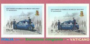 2020 Italia - Vaticano ISPETTORATO P.S. VATICANO Emissione congiunta - 2 Singoli