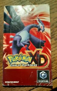 Manual ONLY Pokemon XD Gale Of Darkness GameCube Instruction Booklet