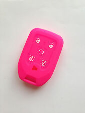 Hot Pink Fob Key Case Cover for 2015-2016 Chevy Tahoe Suburban HYQ1AA Remote