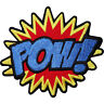 POW Embroidered Iron Sew On Patch Bag Badge Batman Superman Spiderman Comic Word