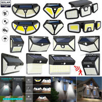 208 LED Solar Powered Light Outdoor PIR Motion Sensor Garden Security Wall Lamp