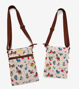 Loungefly Disney Dogs & Cats Floral Passport Crossbody Bag Purse