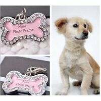 Customized Personalized Bone Shaped Dog Tag Stainless Steel Pet Cat Dog ID TagNJ