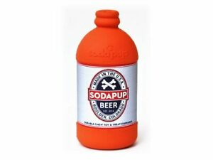 Sodapup Beer Bottle Treat Dispenser Reward Training Durable Chew Toy - Dogs