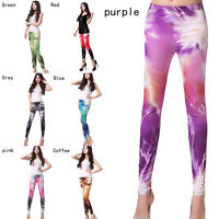 Women's Fashion Cosmic Galaxy Leggings Starry Sky Lightning Printing Pants to
