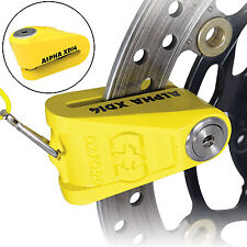 Motorcycle Motorbike Disc Lock Oxford Alpha Stainless Steel Yellow 14mm Pin XD14