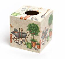 Garden Tissue Box Cover wooden handmade in UK vets
