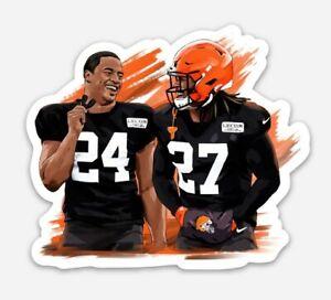 #24 Nick Chubb & #27 Kareem Hunt MAGNET - Cleveland Browns Running Back NFL