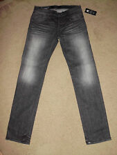 ROCK & REPUBLIC Men's NWT 33 x 35 COLBURG Black Myst Straight Skinny Slim Jeans