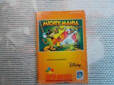 Notice Super nintendo / Snes manuel Mickey Mania  PAL original Booklet *