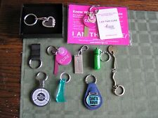 10 KeyChain KeyRing  Heart 1920 Shilling Coin Cancer OH Lottery Promedica