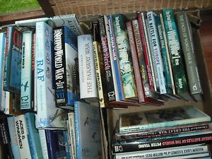 Job Lot 51 Books - Mostly Hardback Military & Aviation History - Collect PE34
