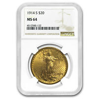 1914-S $20 Saint-Gaudens Gold Double Eagle MS-64 NGC - SKU#153633