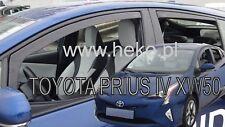 TOYOTA PRIUS IV XW50 5 DOOR 2016-UP wind deflectors 4pc set TINTED HEKO