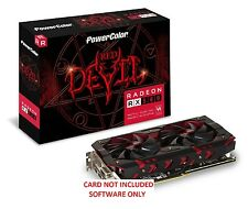 RX 580 8GB PowerColor Red Devil MODDED BIOS 27-30+ MH/s NO CARD INCLUDED 570 480