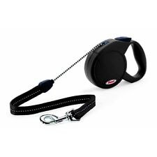 Flexi Classic 2 Medium 5 Mètres Cordon Noir x 1 - Classique Corde Rétractable