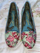 Ladies Irregular Choice Flamingo Flats Size 38 UK 5 Unique