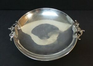 """MID-CENTURY MEXICO SOLID STERLING SILVER 7.5"""" DECORATIVE BOWL / DISH, 300 grams"""
