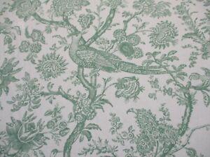 BRUNSCHWIG & FILS FABRIC 'CEVENNES PRINT - ALOE' 4.5 METRES (450cm) 100% Cotton