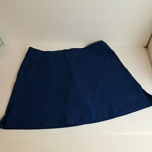 Lady Hagen Women Athletic Golf Skort Blue Size 8 Skirt built in Shorts Pockets