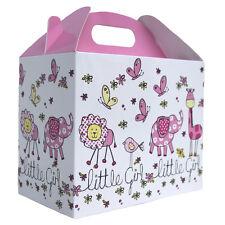 10 X BABY GIRL PINK & WHITE spiovente caselle Baby Shower Regalo-Festa Pranzo Snack Box