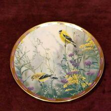 "Lenox 8"" Plate Nature'S Collage ""Golden Splendor� Birds 1992 Catherine Mcclung"