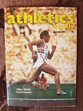 ATHLETICS WEEKLY - ALLAN WELLS - MAY 30 1981