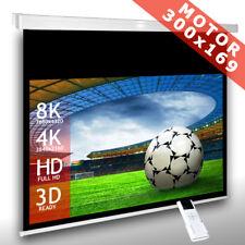 16:9 Écran de projection motorisé 300x169 toile de videoprojecteur Télécommande