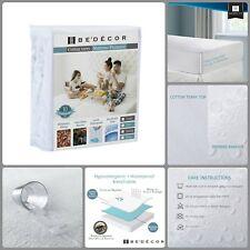 Hypoallergenic King Size Waterproof Cotton Mattress Pad Protector Waterproof New