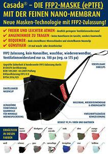 Casada® FFP2  R D - Maske - neue ePTFE-Technologie - neue Sommerfarben