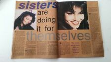 JANET JACKSON 'sisters' 1990 2 page ARTICLE / clipping