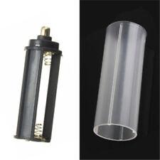 1PC 18650 Battery Tube + 1PCS AAA Battery Holder Black for Flashlight Torch Lamp