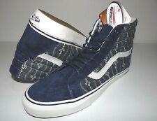 d4692ca78d New Vans Mens Sk8 Hi Reissue Indigo Suede Athletic Shoes Size US 9 EU 42 UK