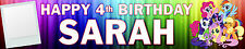 2 X My Little Pony Personalised Photo Birthday Banner