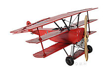 "1917 Fokker Dr.1 Triplane Metal Desk Top Model 12"" Red Baron Fighter Aircraft"