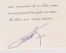 MALI 1968 - 1991 President Moussa Traoré Signed Greeting Card