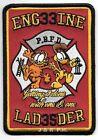 """Pouqonnock Bridge  Engine-33 / Ladder-35, CT  (3.5"""" x 5"""" size) fire patch"""