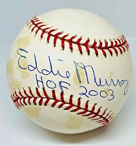 "Orioles Eddie Murray Signed ""HOF 2003"" Baseball MLB and Fanatics Hologram"