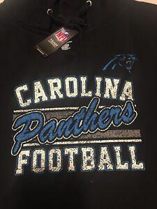 Majestic Carolina Panthers Big Logo Pullover Hoodie Jacket Men's Size 4XL