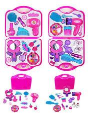 Ragazze TOY VANITY beauty cosmetici valigetta scatola sacchetto ASCIUGACAPELLI Make Up Set Regalo