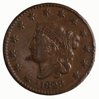 Raw 1828 Coronet Head 1C Small Wide Date Uncertified Copper Large Cent Coin