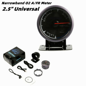 """2.5"""" Universal LED Air Fuel Ratio Gauge Narrowband Pointer O2 A/FR Meter Monitor"""