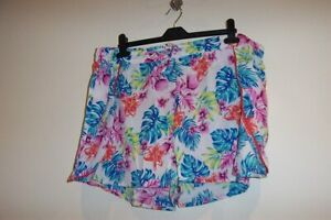 NEW LADIES LOVELY  POLESTER FLORAL SHORTS SIZE 20/22 PLUS
