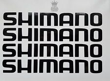 4 x Shimano Decals - Vinyl Stickers - 20cm Long Fishing Box Seats Pole Rod Seat