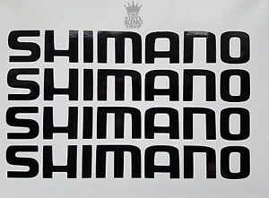 4 x Shimano Decals - Vinyl Stickers - 20cm Long Cycle Gears Seat Box Frame Bike