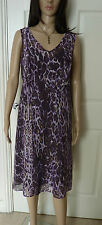 Per Una Size 14 summer / occasion dress multi purples abstract patterns lined