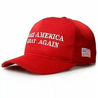 Red MAGA Make America Great Again President Donald Trump Hat Cap Embroidered !!