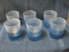 Vintage Leonardo Set of 6 Blue Glasses New in Box