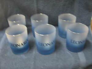 Vintage Leonardo Set of 6 Blue Glasses New in Box